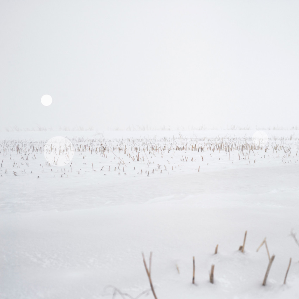 Snow Grasslands Series (II) – Alberta near Trochu 2014_ uv flatbed and screen print on silvered and sandblasted laminated glass_edition of 5 + 1 AP_100 x 100cm
