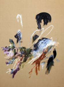 Rockstars walking peacocks, 2015, oil on Belgian linen, 137 x101cm