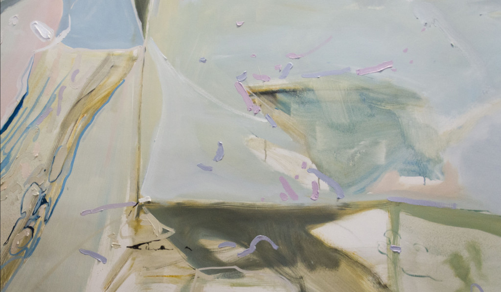 Gian Manik, Untitled #2 (detail), 2016, Oil on canvas, 150cm diameter