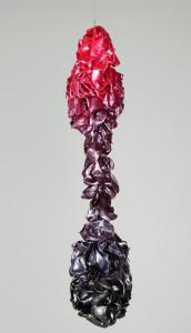 Karena Keys_Rosetilliana fuschia_2009_acrylic paint (cast), nylon 60 x 18 x 18cm