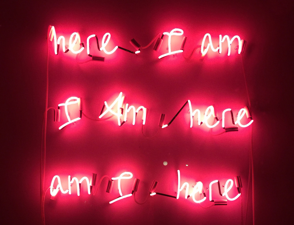 Noula Diamantopoulos, Here. I am. I Am.here Am I. Here, 2016, neon, dimensions variable.