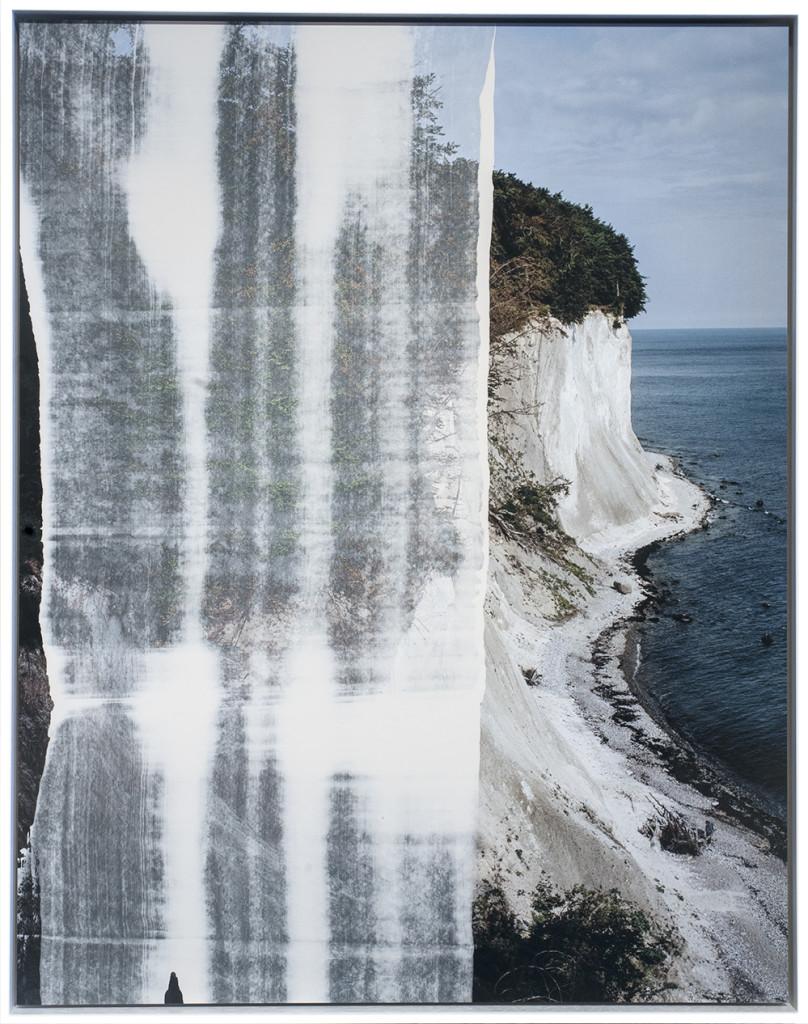 Shoufay Derz_To Descend (Kreidefelsen auf Rügen) 5_2018_Rügen Chalk on pigment prints on cotton paper_90.5 cm x 71cm_edition of 5.