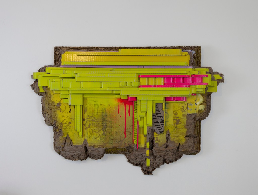 Patrizia Biondi, Entlemen-Ection, 2020, cardboard and paint. Image courtesy of the Artist and Artereal Gallery.